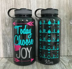 Items similar to Inspirational Water Bottle/Personalized Wide Mouth Water Bottle/Motivational/Water Intake Tracker/Monogram on Etsy Water Intake Tracker, Water Bottle Tracker, Cute Water Bottles, Water Bottle Labels, Diy Tumblers, Acrylic Tumblers, Drink Containers, Vinyl Monogram, Water Bottle Design