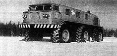 ZIL-E167, designed in early 1960′s to withstand difficult conditions in Siberia, Urals and far east and northern territories of Soviet Union. Able to cross water, control its tire pressure, equipped with air cleaning systems and has 4,5 kw electric engine to pump water (in case of fire), & radio transmission capabilities.