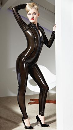 Have your partner lapping at your feet with this black Vertigo Latex Catsuit. Tight fitted with a two-way through-zip and thick black seams - this catsuit oozes sex and style! Sexy Latex, Fetish Fashion, Latex Fashion, Rubber Catsuit, Rubber Dress, Rubber Doll, Latex Dress, Plastic, Latex Girls