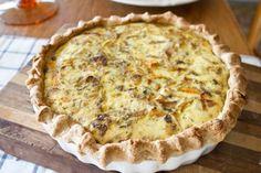 Roasted Sweet Potato, Caramelized Onion, and Gorgonzola Quiche | Naturally Ella