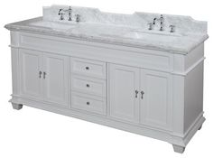 Elizabeth 72-in Bath Vanity (Carrara/White) - traditional - Bathroom Vanities And Sink Consoles - Kitchen Bath Collection