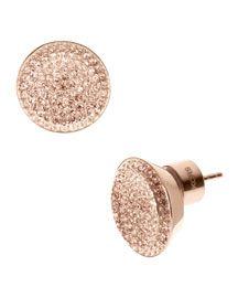 Michael Kors Michael Kors Pave Stud Earrings, Rose Golden