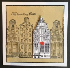 Art Journey Design-team: Nieuwe Stempels/New Stamps: Amsterdam Canal Houses