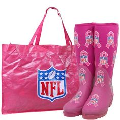 Cuce Shoes NFL Breast Cancer Awareness Believer Bag & Boots Set - Pink