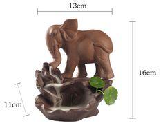 Elephant Backflow incense burner aliexspress