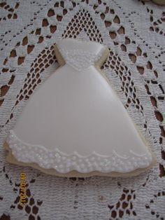 wedding gown cookie