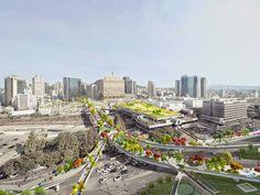 Design Hub - блог о дизайне интерьера и архитектуре: Подвесной сад в Сеуле
