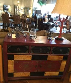Exceptional Console   Red/Gold/Black Hand Painted Console 1604 Furniture Store    $499.95 |. Designer ConsignmentFurniture ...