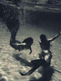 mermaids in sepia