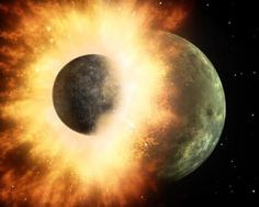 Moon Formed By A Head-On Collision Between Earth & Planet