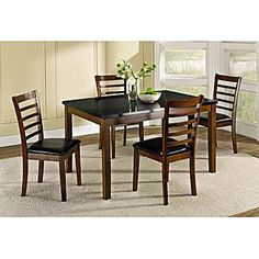 Jaclyn Smith 5 Pc Mahogany Casual Dining Set New Apartment My