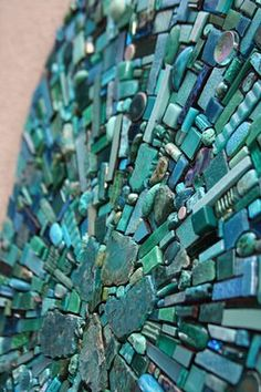 """Mosaic my favorite colors!  By artist, Sonia King (""""Nebula Aqua"""" is a mosaic installation on the walls for a private home)"""