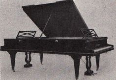 Playel Double Ended Grand Piano Gustave Lyon created the double grand, 2 pianos in one case, a keyboard at each end.