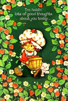 Strawberry Shortcake Characters, Vintage Strawberry Shortcake Dolls, Vintage Cartoon, Vintage Toys, Strawberry Kitchen, Strawberry Art, Strawberry Pictures, Lady Lovely Locks, Cartoon Quotes