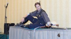 """""""Draw me like you draw your French girls.""""  Just before I won the steampunk costume contest at Leprecon 2014."""