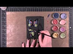 handmade card making video:Perfect Pearls Resist ... uv these gorgeous colors and butterflies ...