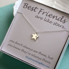 Diamond+&+Star+Necklace+Genuine+Diamond+and+by+ShopSomethingBlue,+$54.50