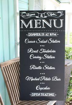 best menu chalkboard signs - Google Search