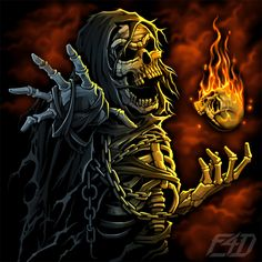 F4D Studios — Portfolio Twisted Quotes, Twisted Humor, Don't Fear The Reaper, Grim Reaper, Anubis, Reaper Quotes, Badass Skulls, Dark Thoughts, Skull And Bones