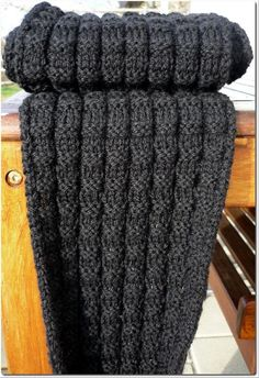 Christian's Scarf was originally knitted in worsted weight yarn, however, it can be knitted in other yarn weights as well. The stitch pattern is very simple but has enough variation to make it an enjoyable knit.