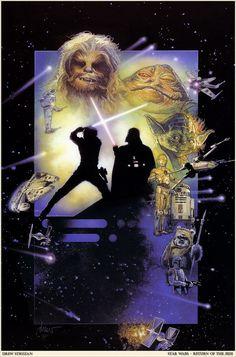 Star Wars : Episode VI - Return of the Jedi by Drew Struzan