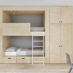 Youngsters Bedroom Furnishings – Bunk Beds for Kids Bunk Beds For Girls Room, Adult Bunk Beds, Kids Bunk Beds, Modern Bunk Beds, Diy Zimmer, One Bed, Interior Design Companies, Loft Spaces, Murphy Bed