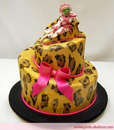 Leopard print cake.