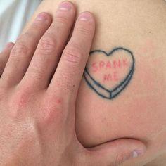 spank me tattoo Daddy Tattoos, Little Tattoos, Word Tattoos, Body Art Tattoos, Sleeve Tattoos, Tatoos, Dream Tattoos, Badass Tattoos, Tattoo Zone