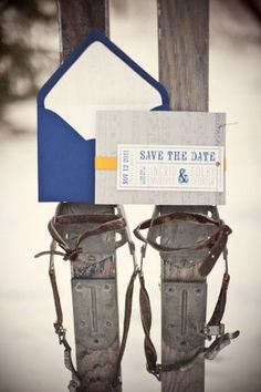winter wedding save the dates