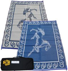 Carefree Mats - Carefree Horse - RV Awning Patio Mat with Free Storage / Carrying Bag, $49.99 (http://www.carefreemats.com/carefree-horse-rv-awning-patio-mat-with-free-storage-carrying-bag/)