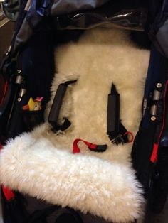 IKEA sheepskin rug hack = DIY custom fit stroller liner