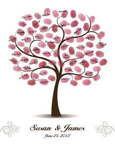 Wedding Tree Guest Book 16x20 17x22 18x24 or by CustombyBernolli,
