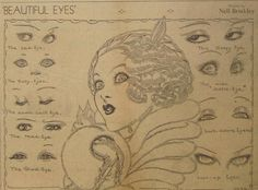 Original 1932 Newspaper Clipping - Beautiful Eyes By Nell Brinkley Ballerina Illustration, Vintage Illustration Art, Girl Illustrations, Vintage Art, Vintage World Maps, Art Deco Design, Beautiful Eyes, Traditional Art, Art Inspo