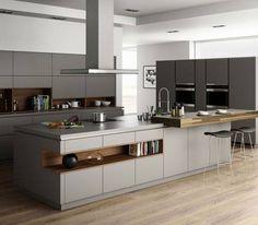 Kitchen - grey tones.