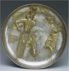 Sasanian silver plate, 5th century B.C.