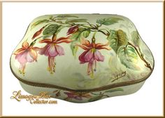 Large Limoges Chest with Fuchsia Flowers