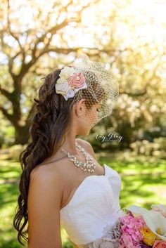 53 Different Colors-Cream Burlap Birdcage Fascinator-Ivory Bridal Veil-Wedding Headpiece by Made4YouBoutique on Etsy https://www.etsy.com/listing/109085595/53-different-colors-cream-burlap