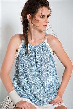 Sateen · Kadın Tekstil  - Mavi Taş Bluz 139-SATEEN310-151022 sadece 34,99TL ile Trendyol da