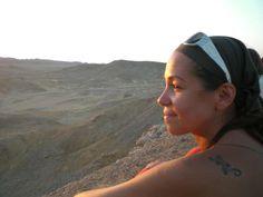 Sguardo al tramonto nel deserto
