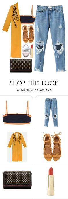 """""""Untitled #966"""" by meli111 ❤ liked on Polyvore featuring T By Alexander Wang, Isabel Marant, Christian Louboutin and Too Faced Cosmetics"""