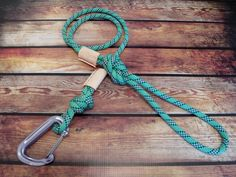 Upcycled Climbing Rope Dog Leash by quickdrawleather on Etsy