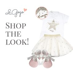 Magical outfit for your little princess <3 SHOP THE LOOK ---> www.legogo.ro #babyclothing #baby #littlegirl #girlyoutfits #outfitoftheday #madeinitaly #italiancouture #princess #girl #love #shoes #babyshoes #pink #gold #star