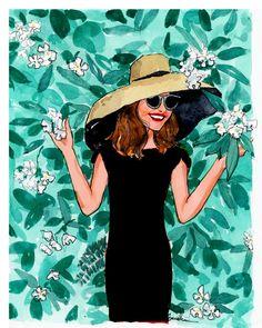 Art Print: Lady in Shade