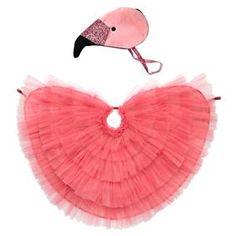 Meri Meri Flamingo Cape Dress Up - Ages 3 to 6 Years - Pink Glitter Elastic with Loop Fasteners Flamingo Dress, Flamingo Party, Glitter Fabric, Pink Glitter, The Animals, Tutu Rose, Bird Dress, Kids Dress Up, Dress Up Costumes