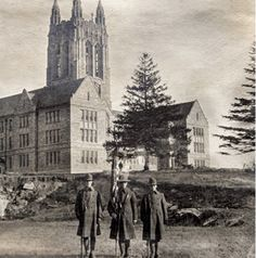 Boston College first opened its doors on September 5, 1864. Back then it was only one building in South End of Boston ♥️🦅💛 College List, My College, Boston College, Gothic, September, Doors, Building, Goth, Buildings