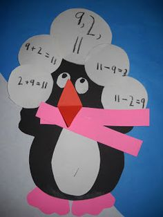 FREEBIE fact family penguins-great for a bulletin board!