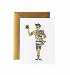 Rifle Paper 'Strong Man' greetings card