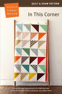 Calico Swing Quilt Pattern by Denyse Schmidt Quilts Quilt Baby, Colchas Quilt, Scrappy Quilts, Easy Quilts, Quilt Blocks, Quilt Pillow, Patchwork Quilting, Quilting Projects, Quilting Designs