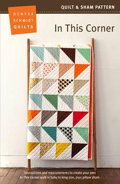 digital in this corner quilt + sham pattern