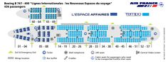 AIR FRANCE AIRLINES BOEING 747-400 INTERNATIONAL AIRCRAFT SEATING CHART